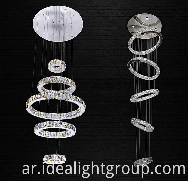 round rings chandelier light