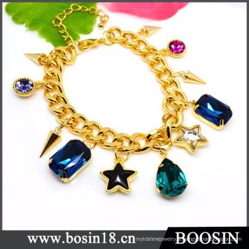 Luxo nobre dubai jóias de ouro pulseira de cristal de ouro # 31484