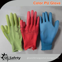 SRSAFETY 13G Knitted PU Nylon Gloves,color is optional