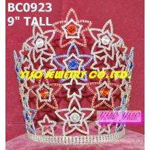 Hermosas coronas de cristal y tiaras