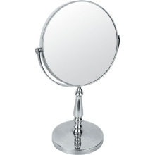 Standing Metal Chrome Makeup Mirror