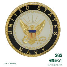 Diseño personalizado Metal Gold Coin para Souvenir