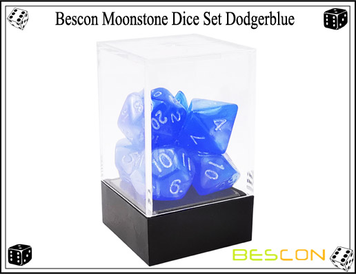 Dodgerblue Dice Set-3
