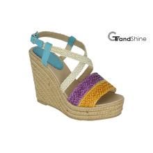 Женская платформа Espadrilles Плетеный ремень для сандалий
