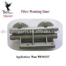 Двойной головкой отливки крепления фильтров Кронштейны, ИСО/ts16949 сертифицированы заводом