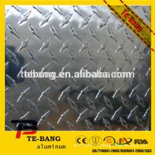 1060 fabricant de production de feuilles en aluminium gaufré en stuc de haute qualité