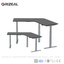 Altura de muebles de oficina de diseño moderno ajustable estación de trabajo de oficina de 120 grados con alta calidad