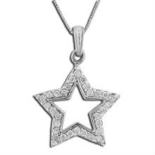 2015 collar de la amistad de la piedra del CZ del wih pendiente de la estrella de la manera Fabricación y abastecedor y exportador