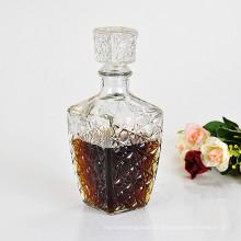 Botella de vino de 100 ml Xo, botella de cristal para el ron, botella del whisky, botella del vodka