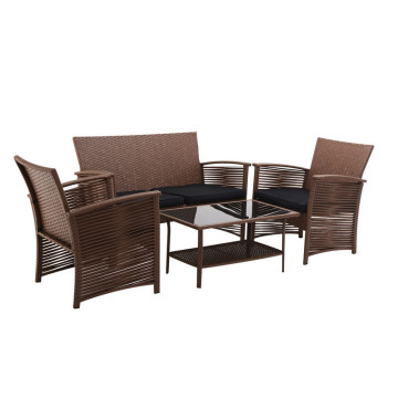 High Quality for Garden Table And Chairs 4pc table sets with cushion supply to Mexico Wholesale