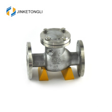 JKTLPC041 rubber wafer stainless steel flanged lift type check valve