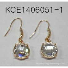 Earrings with White Gems Fashion Jewelry