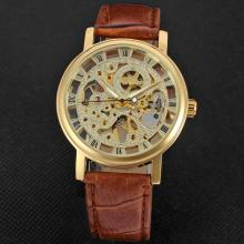 winner classical watch with skeleton design vintage style
