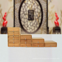 caja de bambú hecha a mano hecha a mano directa de fábrica