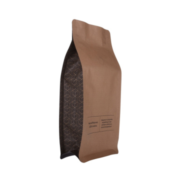 Reciclar bolsa de papel plano de papel Kraft Food Coffee