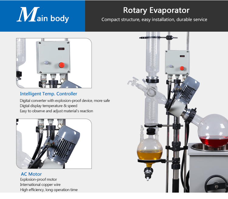 Chemical Experiment Rotary Evaporator With Water Bath