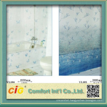 Bathroom Plastic Curtain With Print Pattern