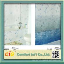Ванная комната пластиковых занавеска с печати шаблон