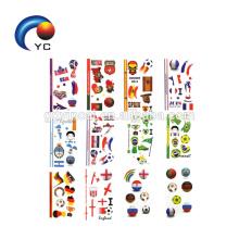 Países Designs 2018 Word Cup Jogos De Futebol Tatuagem Etiqueta Bandeira Do Corpo Tatuagem