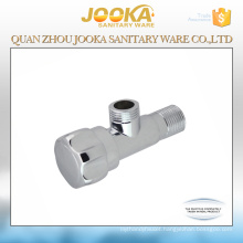 Bathroom accessories polished faucet angle valve in zinc