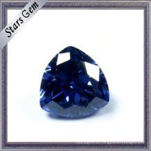 Trilliant Corte Tanzanita Azul Color CZ Piedra Preciosa