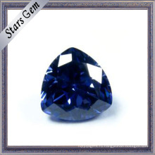 Trilliant Cut Танзанит голубой цвет CZ Gemstone