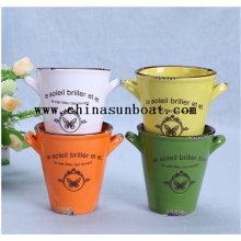 Enamel Mini Office Decoration Plant Vase