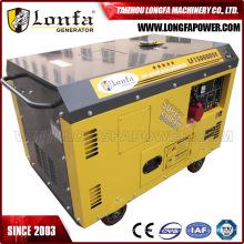 Gerador diesel silencioso refrigerado a ar do cilindro dobro 10kw13kVA