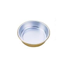 Circular golden coating Aluminum Foil Plates