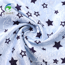 Tissu de satin de polyester à impression rotative en relief