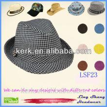 LSF23 2015 Moda Jazz Caps Fedoras Palha Adultos Verão Sun Chapéus para Homens Beach Floppy Panamá