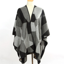Lady Fashion Geometry Pattern Acrylic Knitted Winter Long Shawl (YKY4507)
