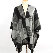 Леди мода Геометрия шаблон акриловые трикотажные зима длинные шали (YKY4507)