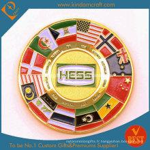 Corpe Edge 3D Souvenir Coins Coupe des pièces militaires