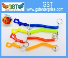 Neon Stretchy Spiral Coil Clip Keychain