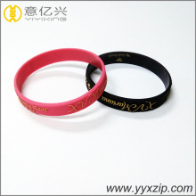 promotional gift embossed with printed silicone wristbands