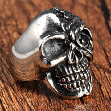 Popular Skull Titanium Stainless Steel Punk Rock Ring