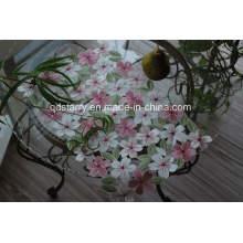 Servilleta St1750 rosa con calado hecho a mano
