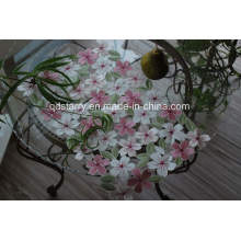 St1750 Pink Napkin with Handmade Cutwork