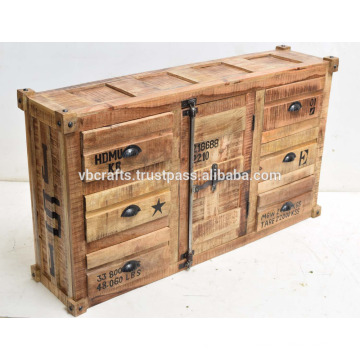 industrial container style sideboard
