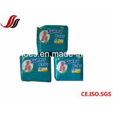Wegwerfbaby-Windeln mit gutem Preis und ausgezeichneter Qualität, sonnige Baby-Windel für Babys, Comfortale Baby-Obacht-Produkte