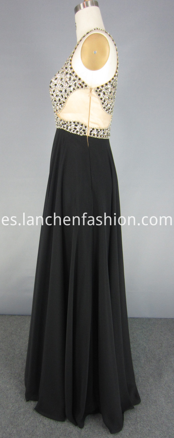 Mesh Illusion Prom Dress
