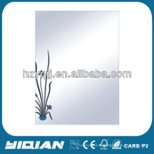 Modern Design Hanging Wall Glue 4mm Bath Mirror