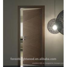 Puerta de la sala de enchapado EV de madera maciza de diseño moderno