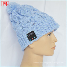 BV / BSCI LICENCIA gorrita tejida vendedora caliente del knit del bluetooth del sombrero de la manera