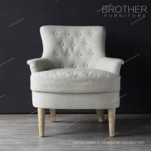 Chaises de chaise / salon de l'accent en bois d'hôtel haut arrière