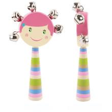 hölzerne Rassel Kinder Spielzeug Hand Glocke Musikinstrument