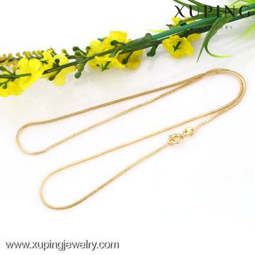 42624-Xuping Atacado Design Simples Colar De Ouro Jóias