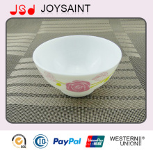 Cuenco de arroz de cristal oval del hogar de la venta caliente para promocional