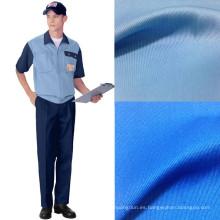 Trabajo de 195GSM ropa de la tela cruzada del algodón del poliester